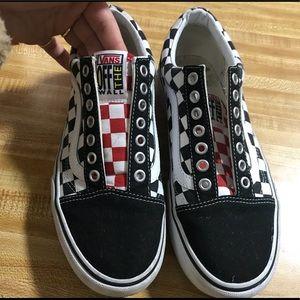 3cbcc58987 X Rare Vans Shoes Skool Old Uo Platform Poshmark Checkered 5E57qra